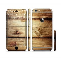 The Old Bolted Wooden Planks Sectioned Skin Series for the Apple iPhone 6