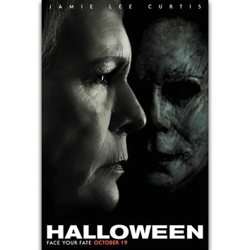 S2914 Halloween Movie Poster Laurie Strode Horror 2018 Film Wall Art Painting Print On Silk Canvas Poster Home Decoration