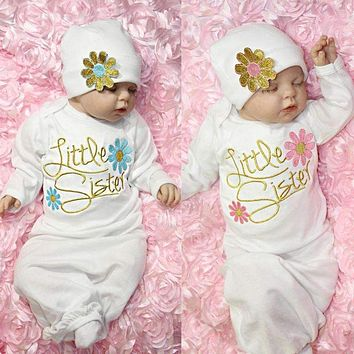 Baby Girl Clothes Newborn girl Take Home outfit Baby Girl Set Baby Gown Baby Sleeping Bags Nightgown