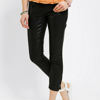 Silence + Noise Vegan Leather Moto Skinny Pant