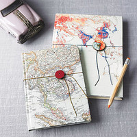 vintage map notebook or sketchbook by bombus | notonthehighstreet.com