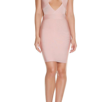 Vina Bandage Dress - Nude