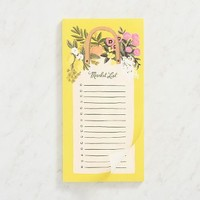 Yellow Farmers Market List Pad