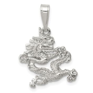 925 Sterling Silver Dragon Shaped Pendant