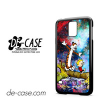 Running In Galaxy Nebula Calvin And Hobbes For Samsung Galaxy S5 Case Phone Case Gift Present