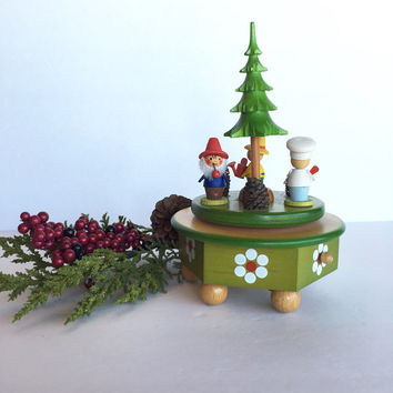 Vintage Steinbach Holiday Music Box, Steinbach Volkskunst Aus Hohenhameln German Made Windup