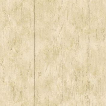 Brewster Wallpaper CCB02183 Reclaimed Cottage Gold Wood