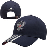 adidas Russia 3-Stripes Adjustable Hat - Navy Blue - http://www.shareasale.com/m-pr.cfm?merchantID=7124&userID=1042934&productID=540345201 / Russia