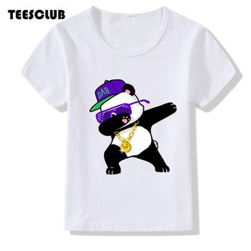 T shirt Kids 2018 Fashion Dabbing Unicorn Panda Print T-shirt Boy Girl Summer Tops Children Short Sleeve Tshirt Hipster Clothing