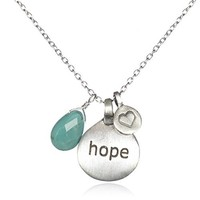 """Satya Jewelry """"Hope for Hati"""" Hope, Love, and Healing Charm Necklace for Hati"""