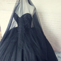 real photos black long prom dresses ball gowns 2016 new design hot sexy sweetheart tulle beading custom evening dress woman