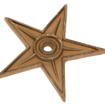 Cast Iron Star - Center Hole X-Large -Set Of 6