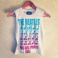 The Beatles Studded Crop Top  by NewSpiritVintage on Etsy