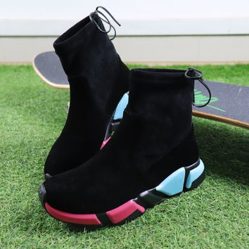 Best Online Sale Balenciaga Speed HIGH Black Socks Boots Multicolor Casual Shoes