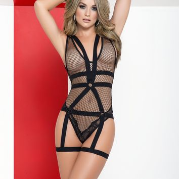 Bodysuit With Detachable Harness