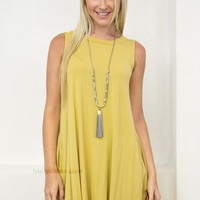 Nature Green Pocket Dress