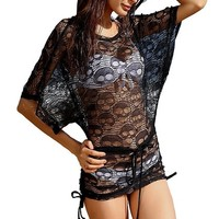 Hot Sexy Women's Girl's Swimwear Cover-Ups Dress Fashionable Beachwear-Black
