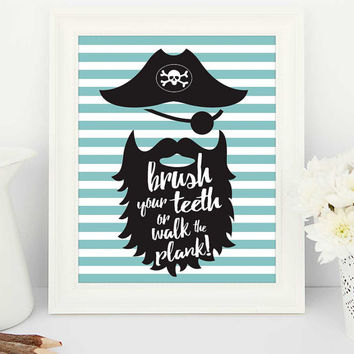 bathroom rules, bathroom printables, bathroom printable, bathroom sign, brush your teeth, printable quote, bathroom pirate, pirate poster
