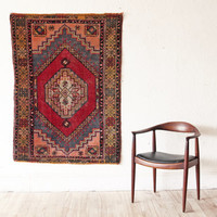 Turkish Kilim Rug Hand Woven Wool