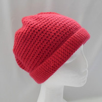 Red Hat Teen Cashmere Wool Blend Teen or Small Adult Size Winter Hat Ready to Ship