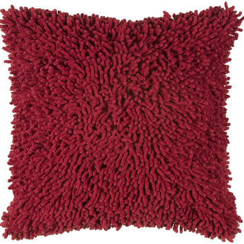 """Shag Red Pillow Cover (18"""" x 18"""")"""