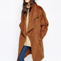 Paisie Wool Oversized Coat with Leather Belt