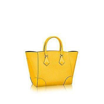 Tagre™ Authentic Louis Vuitton Epi Leather Phenix PM Bag Tote Handbag Article: M50941 Jonquil