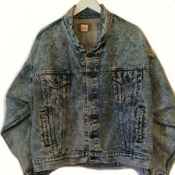 Vintage 80s LEVIS DENIM JACKET Size Large