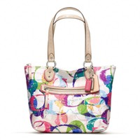 Coach :: New Poppy Stamped c Small Tote