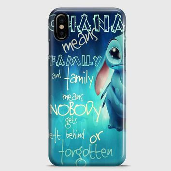 Ohana Means Family iPhone X Case