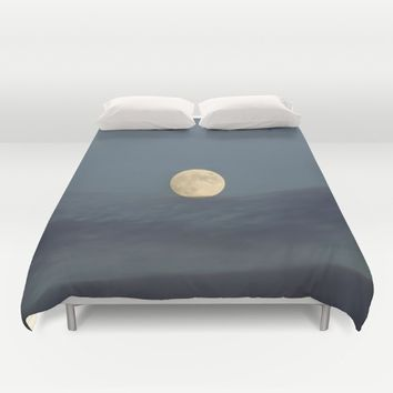 Moon equilibrium Duvet Cover by Guido Montañés