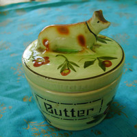 Beautiful Retro Butter Dish