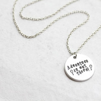 "Disney's UP ""Adventure is out there"" necklace"