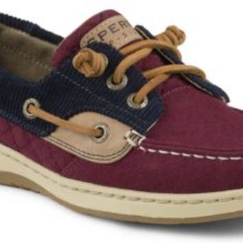 Sperry Top-Sider Ivyfish Quilted 3-Eye Boat Shoe Red/Navy, Size 9.5M  Women's Shoes