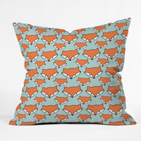 Allyson Johnson So Foxy Outdoor Throw Pillow