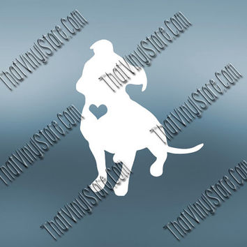 Preppy Pitbull Vinyl Decal | Pitbull Heart Decal | Pitbull Breeder Decal | Pitbull Mom Decal | Pitbull Dad Decal | Pitbull Family  | 174