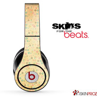 Vintage Orange and Dotted Skin For The Beats by Dre Studio, Solo, Pro, Mix-R or Wireless