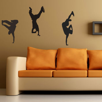 Breakdancers wall decal - Bboy stickers
