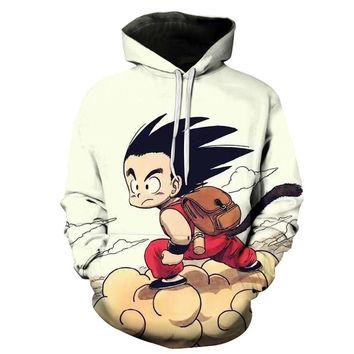 Devin Du Newest Anime Dragon Ball Z Super Saiyan 3D Hoodie Goku/Vegeta Pullovers Women Men Long Sleeve Outerwear Hoodies