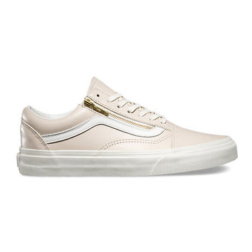 Leather Old Skool Zip | Shop Womens Shoes at Vans
