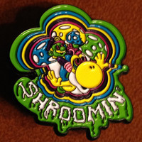 Shroomin' Hat Pin -  Made by PinColab #/100 Limited Edition