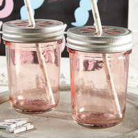 Blush Pink Mason Jars (Set of 12)