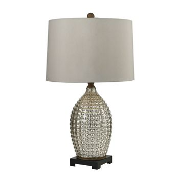 D2601 Trump Home Reverse Hammered Glass Table Lamp in Antique Mercury - Free Shipping!