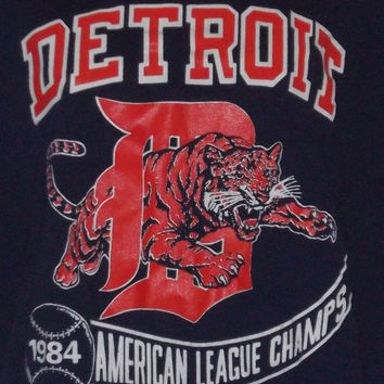 Vintage 1984 Detroit Tigers t-shirt American League Champs MLB 50/50
