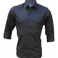 Rigo All Black Slim Fit Party Shirt