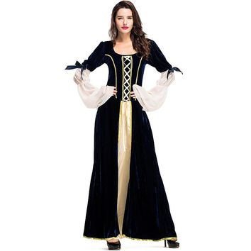 Umorden Purim Halloween Carnival Costumes Medieval Dress Women Robe Renaissance Maiden Faire Costume Cosplay