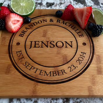 Personalized Cutting Board 8.5x11 (Rounded Edge) Bamboo – Jenson Design