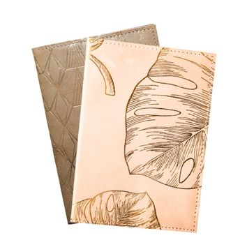 Gold Print Leather Journals
