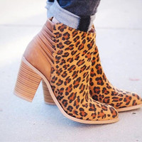 Leopard Lace Back Volatile Booties
