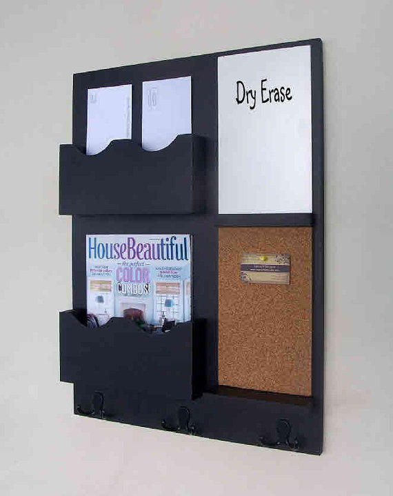 mail organizer cork board white board from legacystudio on. Black Bedroom Furniture Sets. Home Design Ideas